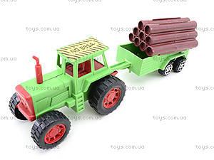 Инерционный трактор с грузовым прицепом, 855A-57B, отзывы