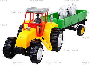 Инерционный трактор с прицепом и коровами, 986-3A, отзывы