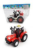 Игрушка трактор, 1035А, фото