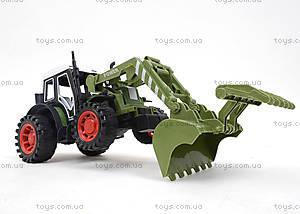 Зеленый/красный инерционный трактор, 4007A-1, фото