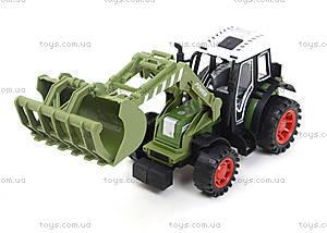 Зеленый/красный инерционный трактор, 4007A-1, отзывы