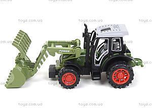Зеленый/красный инерционный трактор, 4007A-1, цена