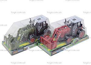 Зеленый/красный инерционный трактор, 4007A-1, игрушки