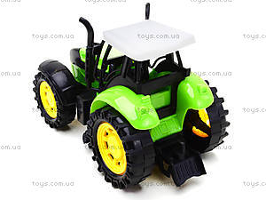 Трактор инерционный, для детей, 1205-2, детские игрушки