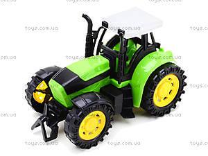 Трактор инерционный, для детей, 1205-2, toys.com.ua