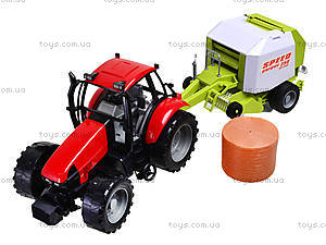 Трактор инерционный «Фермер» для детей, 4089B, игрушки