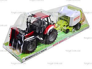 Трактор инерционный «Фермер» для детей, 4089B, детские игрушки