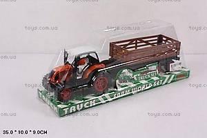 Трактор инерционный с прицепом детский, 1018-11