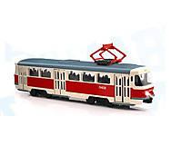 Трамвай красный АВТОПРОМ, 6411, купить