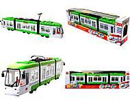 Игрушечный трамвай со световыми эффектами,
