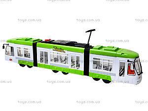Игрушечный трамвай со световыми эффектами, 1258, отзывы