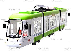 Игрушечный трамвай со световыми эффектами, 1258, цена