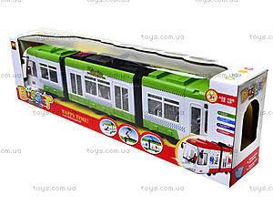 Игрушечный трамвай со световыми эффектами, 1258, детские игрушки
