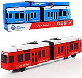 Трамвай инерционный 2 цвета, KX905-14