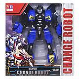 "Трансформер ""Change robot"" синий, YD-31"