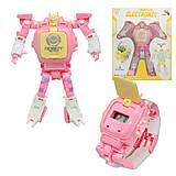 """Трансформер-часы """"Electronic"""" розовый Dade Toys (D622-H068), D622-H068"""