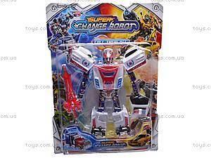 Трансформер-машина Super Change Robot, 8-15, фото