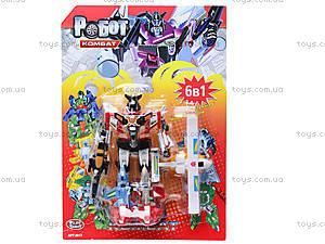 Трансформер-робот «Комбат», 8017, игрушки