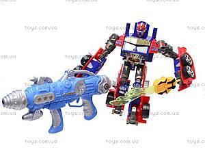 Трансформер-робот с пистолетом на присосках, 9-3, toys.com.ua