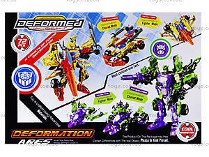 Детский трансформер-робот Warrior, 666-B, игрушки
