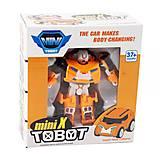 "Трансформер ""Tobot mini Х"", оранжевый, 238Х"