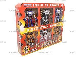 Трансформеры игрушечные в наборе, D622-E107, детские игрушки