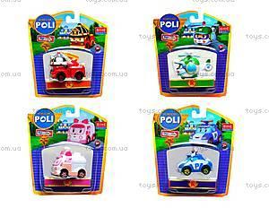 Металлические модели машинок Robocar Poli, 83160-83163