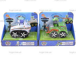 Игрушечный транспорт Paw Patrol с героем, TY400A, игрушки