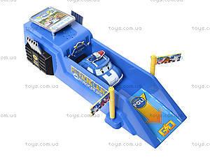 Трек для запуска с машиной «Робокар Поли», XZ-196S, детские игрушки
