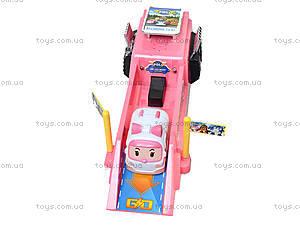 Игровой трек с машинкой «Робокар Поли», XZ-197S, детские игрушки