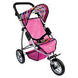 Трехколесная коляска для кукол Bino, 82912, купить