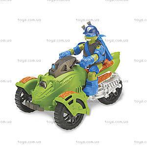 Трехколесный мотоцикл Леонардо «Черепашки-Ниндзя» с фигуркой, 94004