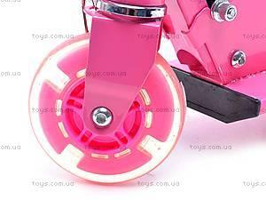 Трехколесный самокат с подсветкой колес, YJ-251, игрушки