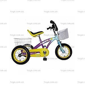 Трехколесный велосипед для детей, фиолетовый,
