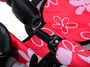 Трехколесный велосипед с цветочками Lexus, M0449-3, детские игрушки