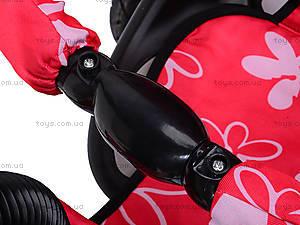 Трехколесный велосипед с цветочками Lexus, M0449-3, toys
