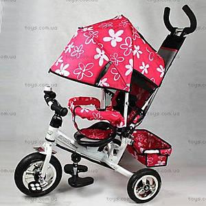Трехколесный велосипед с цветочками Lexus, M0449-3
