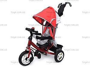 Трехколесный велосипед с крышей, красный, QAT-T017 КРАС