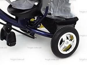 Трехколесный велосипед с крышей, синий, QAT-T017 СИН, купить