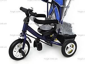 Трехколесный велосипед с крышей, синий, QAT-T017 СИН, фото