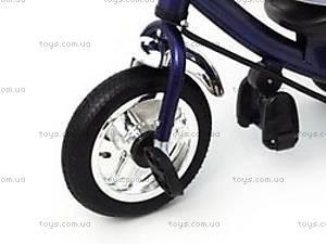 Трехколесный велосипед с крышей, синий, QAT-T017 СИН, отзывы