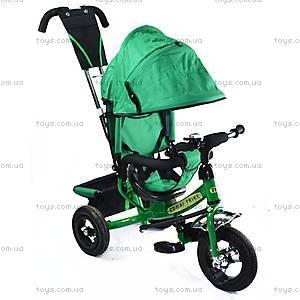 Трехколесный велосипед с ручкой, зеленый, BT-CT-0004 GR