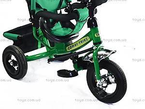 Трехколесный велосипед с ручкой, зеленый, BT-CT-0004 GR, купить