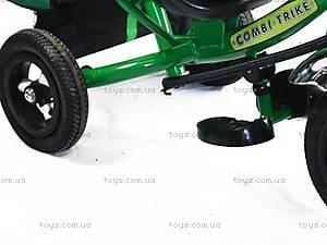 Трехколесный велосипед с ручкой, зеленый, BT-CT-0004 GR, фото