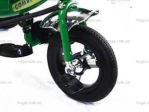 Трехколесный велосипед с ручкой, зеленый, BT-CT-0004 GR, отзывы