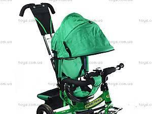 Трехколесный велосипед с ручкой, зеленый, BT-CT-0004 GR, цена
