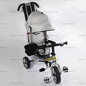 Трехколесный велосипед для детей с козырьком, BT-CT-0003 SI