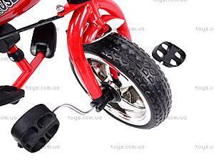 Трехколёсный велосипед для детей, красный, XG18919-T12-3, купить