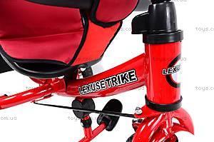 Трехколёсный велосипед для детей, красный, XG18919-T12-3, игрушки