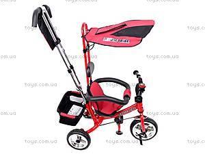 Трехколёсный велосипед для детей, красный, XG18919-T12-3, детские игрушки
